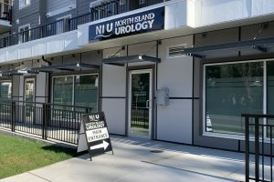 A photo of the front entrance to North Island Urology's clinic
