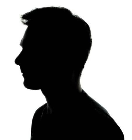 A silhouette of a man